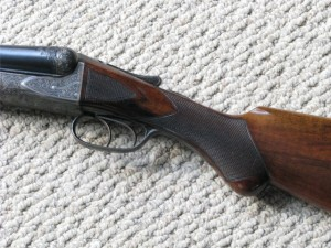 12 gauge BE grade A.H. Fox double barrel shotgun, lots of original condition