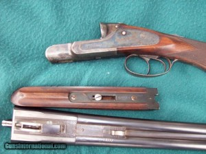20 gauge H-grade Lefever side-by-side double barrel shotgun