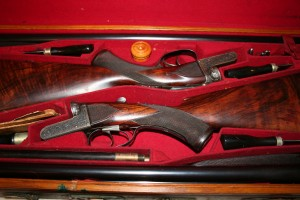 A pair of 12 gauge Daniel Fraser boxlock side-by-side shotguns