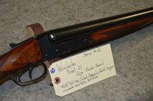 Winchester M21, double barrel shotgun, serial #2, at Redding Auction Services
