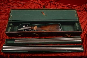 10 gauge Parker Bros. Quality 6 SxS lift-lever shotgun, 2 sets of Damascus steel barrels and case in 10 ga