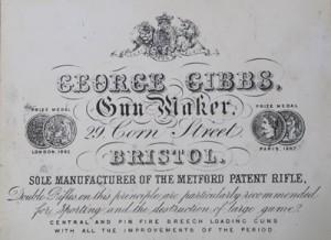George Gibbs, Gun Maker, Trade Label