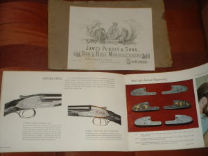 genuine James Purdey & Sons Ltd. Catalog, probably from the '60s.