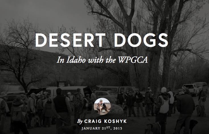 Desert Dogs: In Idaho with the WPCGA, by Craig Koshyk